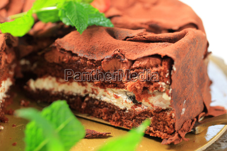 soft chocolate sponge cake filled with