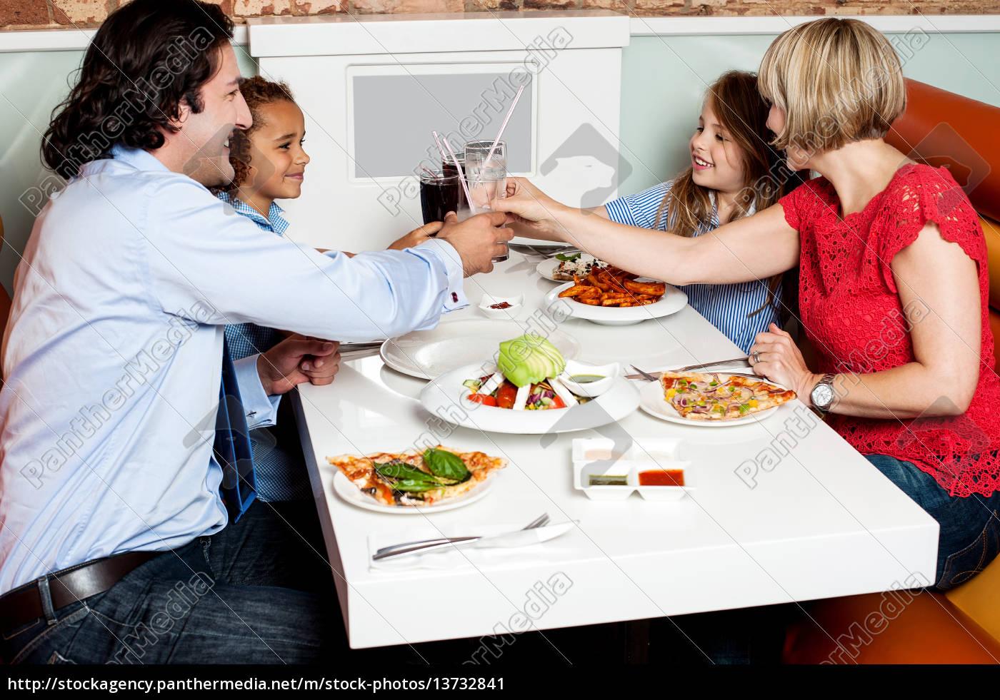 family, dinner, at, restaurant - 13732841