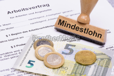 minimum 850 euros and employment