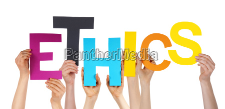 many people hands holding colorful word