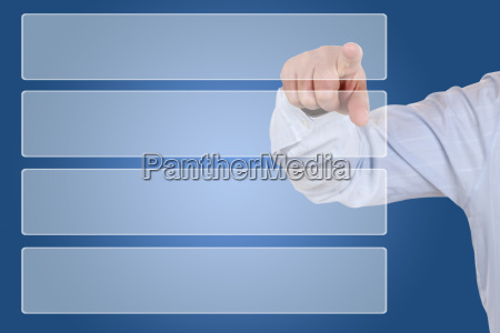 businessman at pointing to selection organization