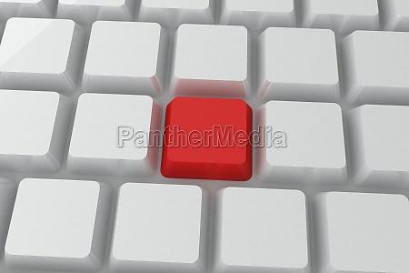red key on keyboard