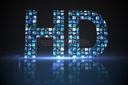 hd made of digital screens in