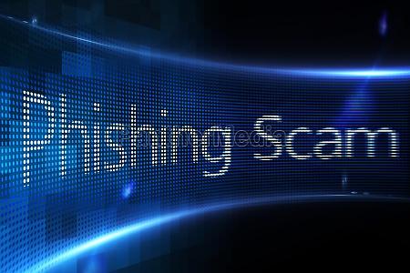phishing scam on digital screen