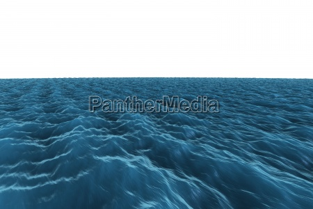 digitally generated graphic rough blue ocean