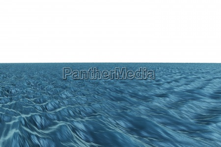 digitally generated graphic blue ocean