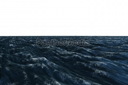 digitally generated graphic dark blue ocean