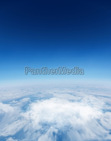 digitally generated graphic blue sky over