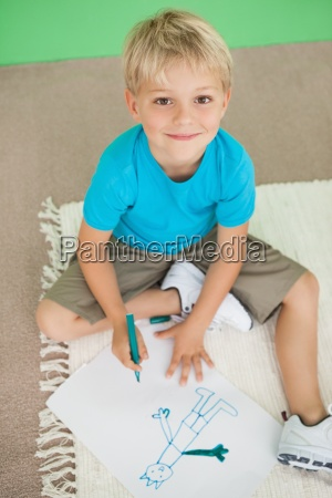cute, little, schoolboy, smiling, at, camera - 13742595