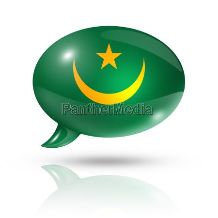 mauritanian flag speech bubble