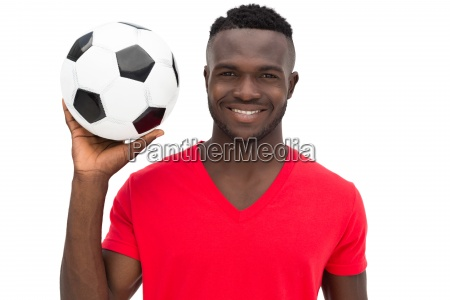 portrait of a smiling handsome football
