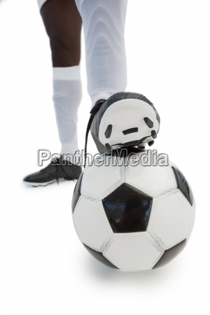 football, player, standing, with, the, ball - 13745747