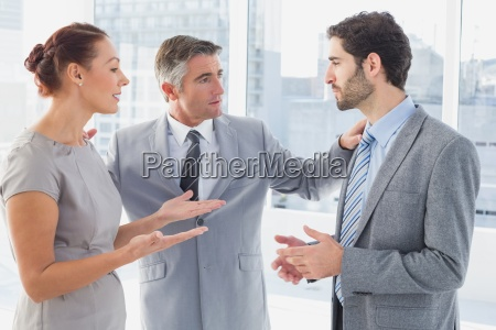 businesswoman arguing with co worker