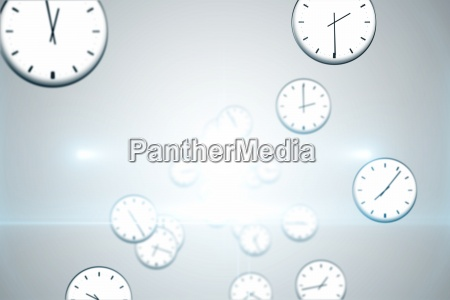 digitally generated floating clock pattern