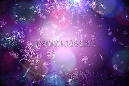 purple snow flake pattern design