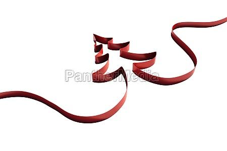 ribbon in shape of christmas tree