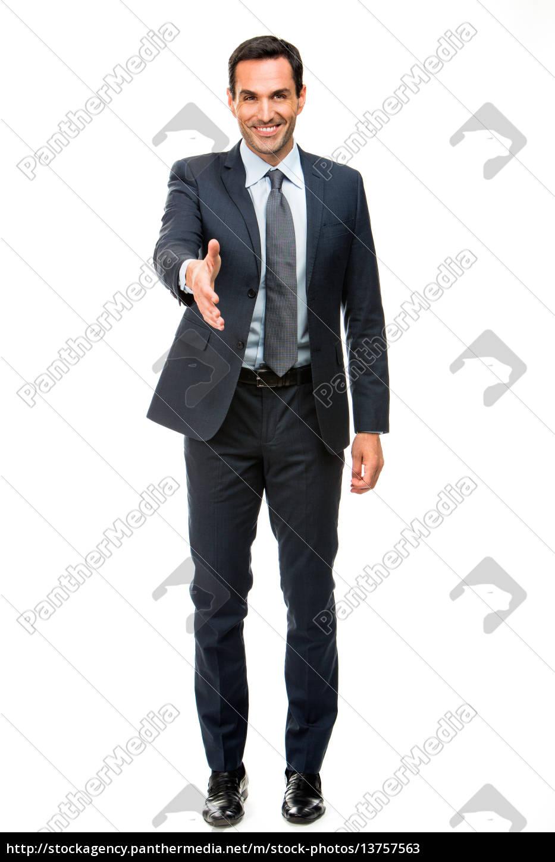 full, length, portrait, of, a, businessman - 13757563
