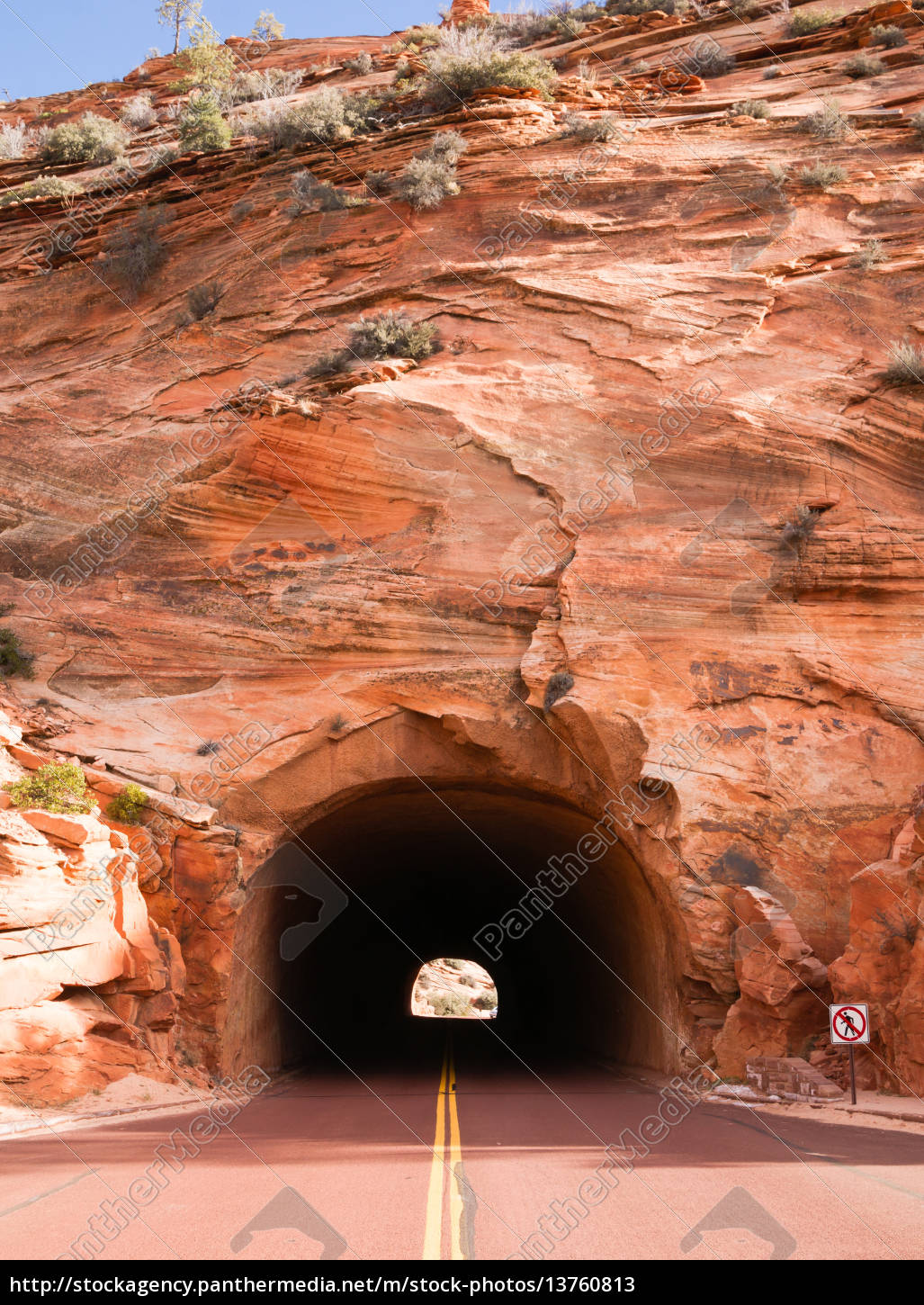 stone, highway, tunnel, red, roadway, zion - 13760813