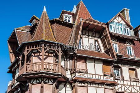 stylized half timbered house etretat is