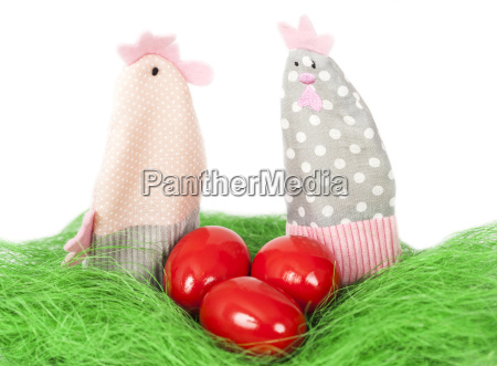 easter eggs and decorations