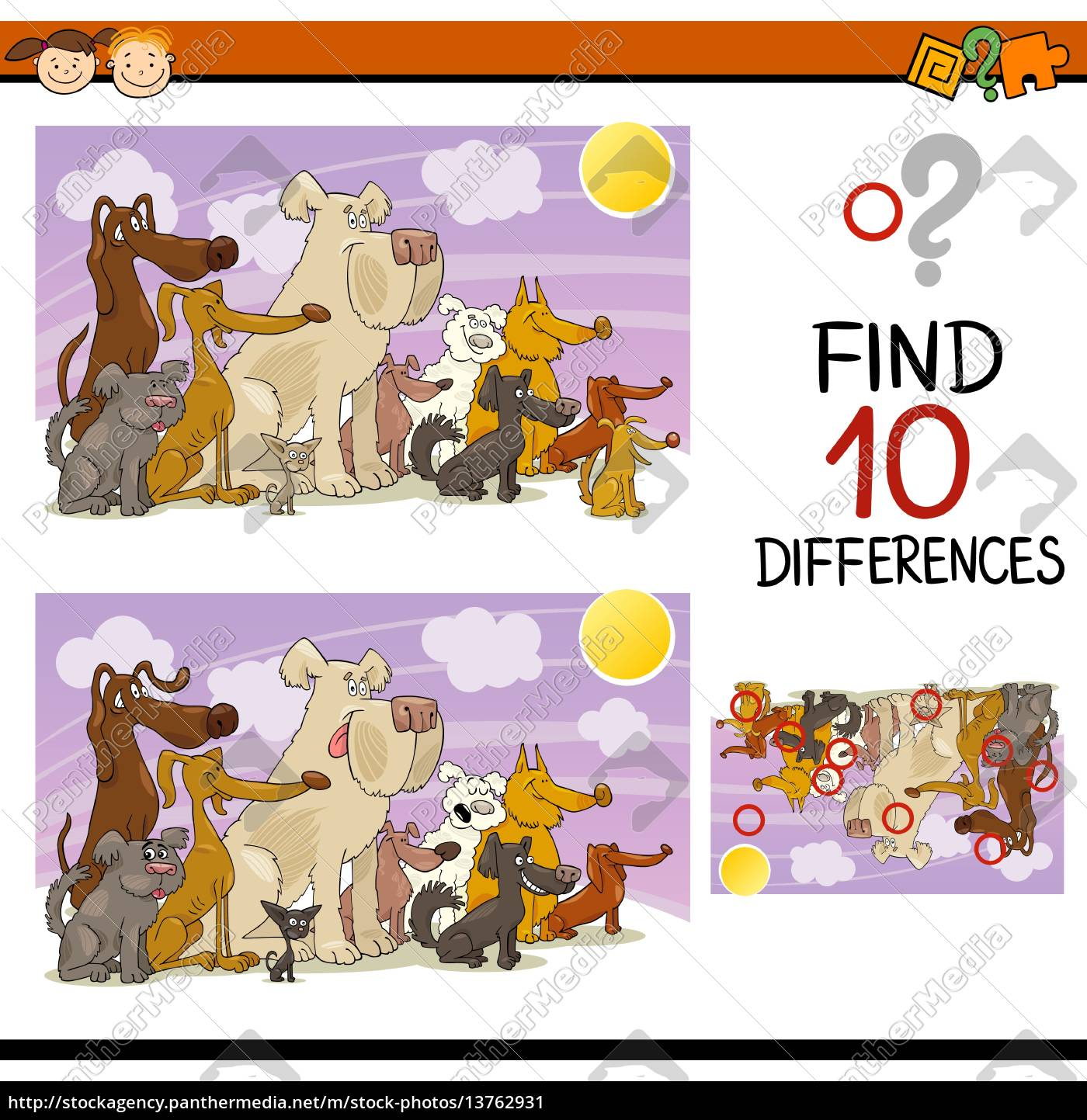 finding, differences, game, cartoon - 13762931