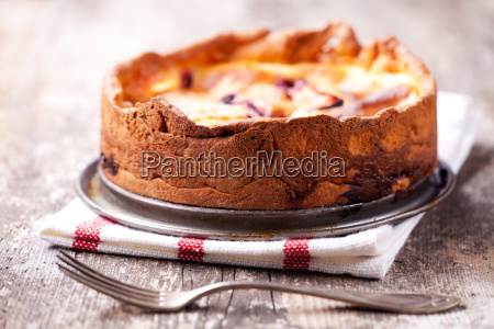 cheesecake on wood