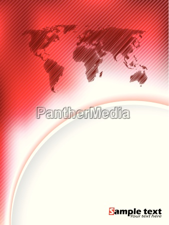 striped, red, brochure, design, with, scribbled - 13767765