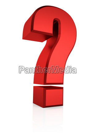 3d red question sign