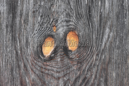 wooden structure with knothole