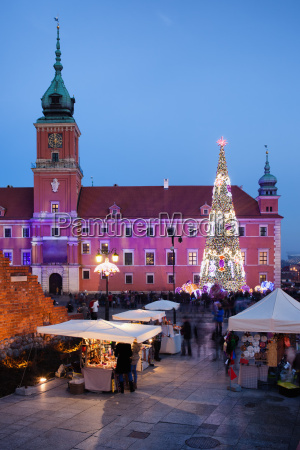 castle square at christmas time in