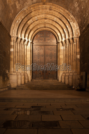 portal of the lisbon cathedral at