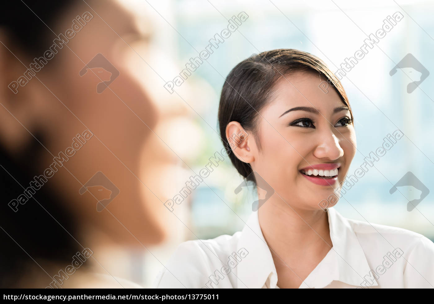 chinese, business, woman, in, team, meeting - 13775011