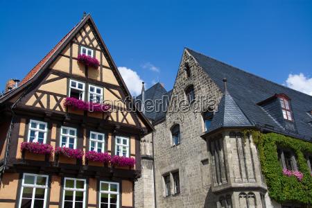 quedlinburg saxony anhalt germany marketplace
