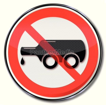prohibition sign for alcohol at the