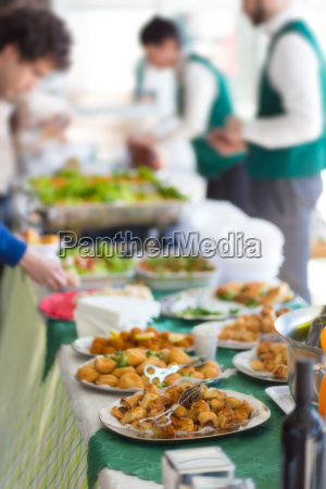banquet, lunch, break, at, conference, meeting. - 13782367