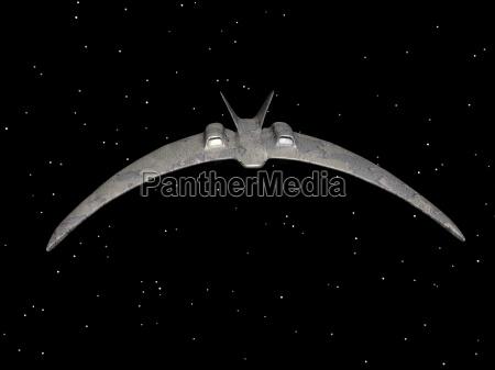 alien spaceship in space