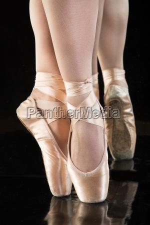 ballet legs of a ballerina