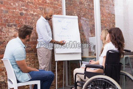 businessman making a presentation to his