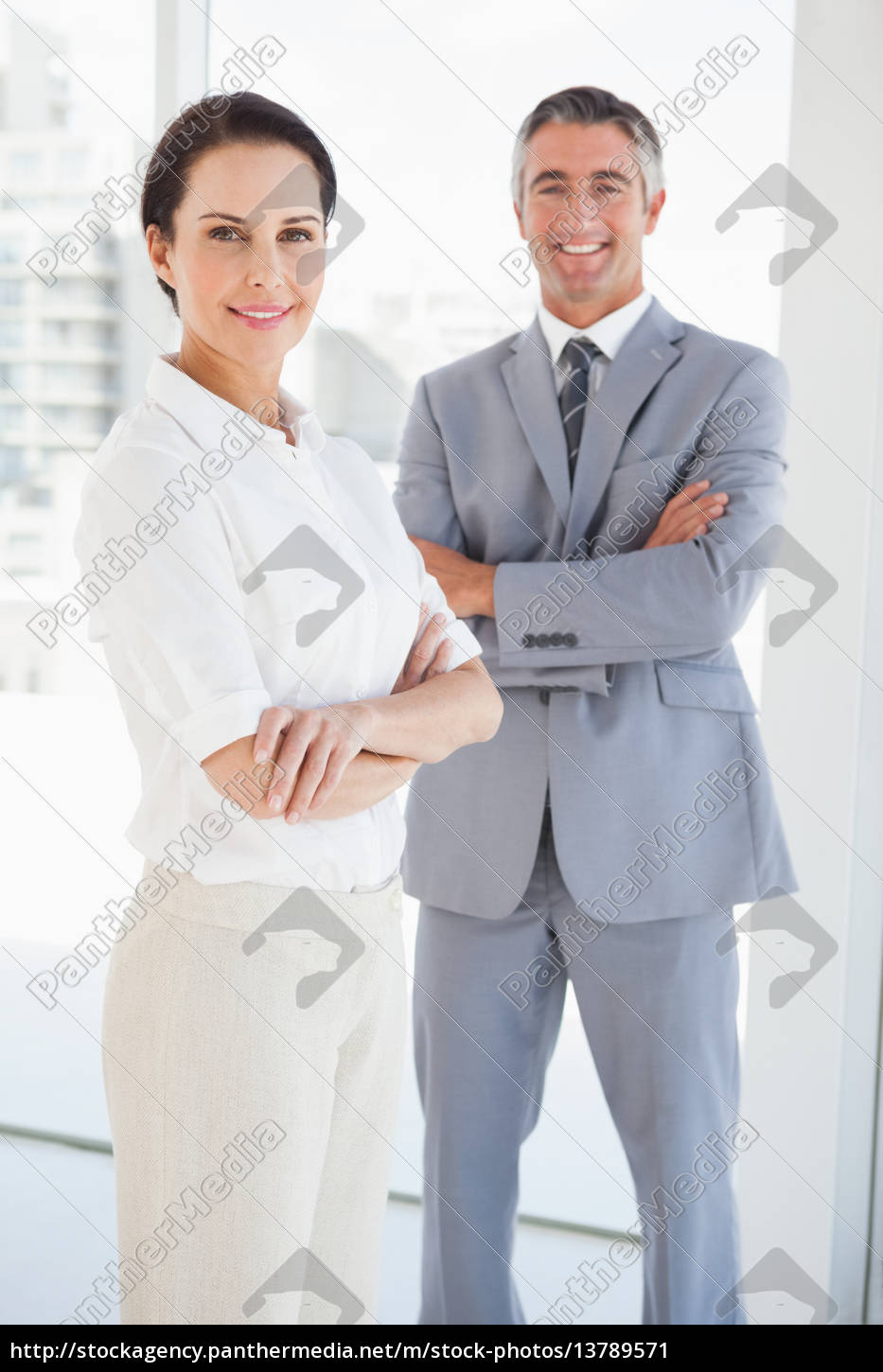smiling, business, people, with, folded, arms - 13789571