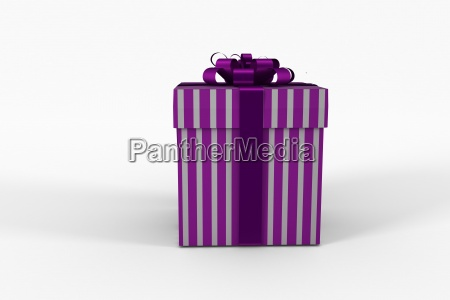 purple and silver gift box