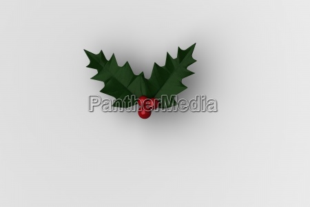 christmas holly with red berries