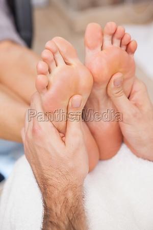 customers getting both feet massaged