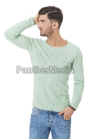 handsome young man attractive in casual