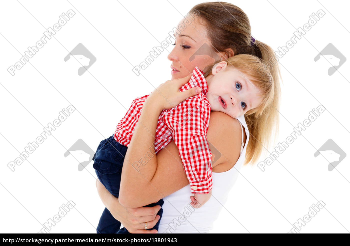 mother, with, small, baby. - 13801943