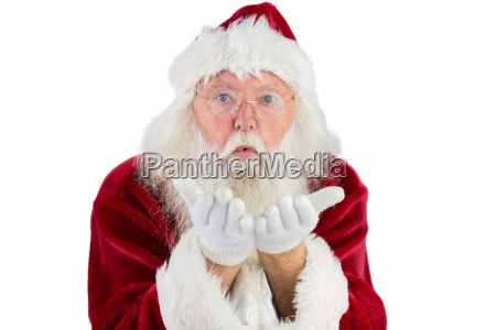 santa blows something in your direction