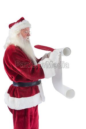 father christmas writes a list