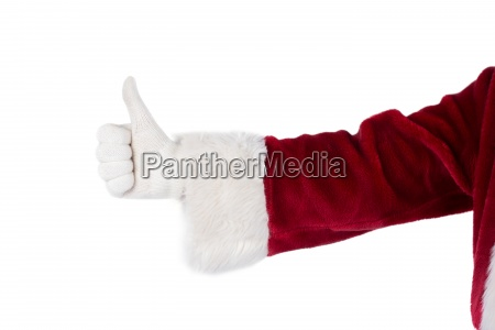 father christmas gives a thumb up