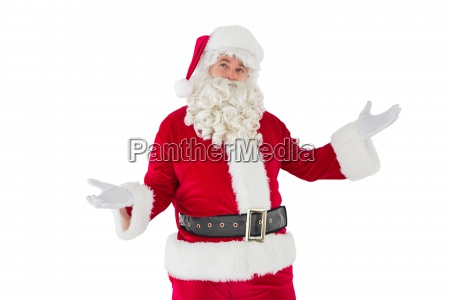 father christmas with his hands out