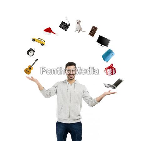 happy man making a presentation