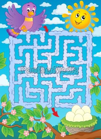 maze 2 with bird theme